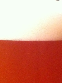 Beer and head. Even Rothko would have been happy