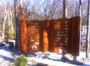 The steel and concrete sculpture is complete.