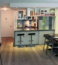 NYC grey kitchen
