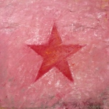 a red star in a pink place