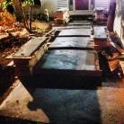 25,000 lbs of concrete