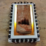 a brick of aspiration, with a concrete and voltage frame