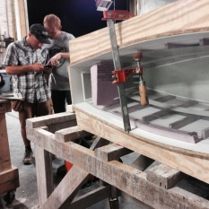 formwork moves from inside to out