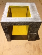 Made as a casting sample for a much larger piece, this table will certainly find its own home.